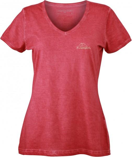 Damen -T-Shirt mit V-Ausschnitt Gipsy